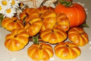 Тыквенные плюшки с миндальным орехом