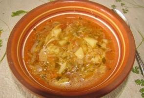 Овощной суп с капустой в мультиварке