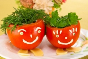 Фаршированные помидоры «Веселые ребята»