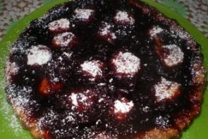 Рисовый пирог с клюквой