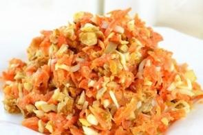 Салат из вареной моркови «Марго»
