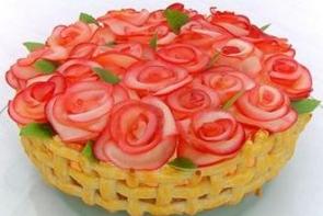 Торт «Корзина алых роз»