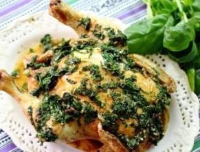 Курица с пряными травами из духовки