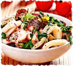 Салат с морепродуктами «Экзотика»